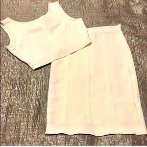 BCBG Maxazria crop top & skirt set!